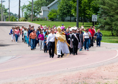 Eucharist Procession from Veterans Park